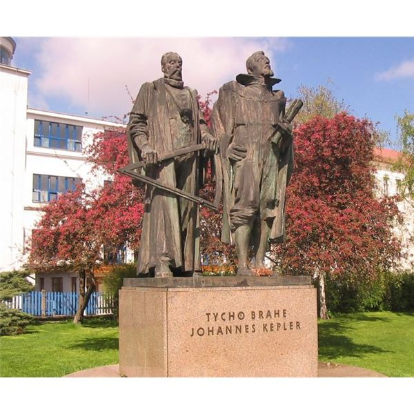 Johannes Kepler and Tycho Brahe Monument
