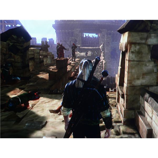 A look at one of the scenes from the siege at the start of the game.
