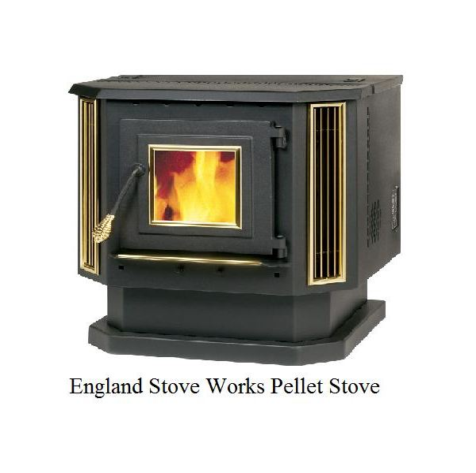 Bottom feed pellet stove