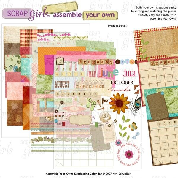 Digital Scrapbook Calendar Kits Enjoy A Personalized Calender