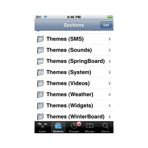 how to install themes on iphone 4 using cydia