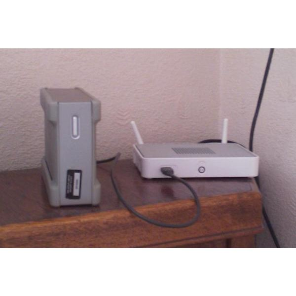 Any USB storage device can be connected to a suitable router