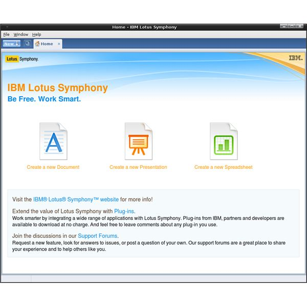 Ibm Lotus Symphony A Review Of The Linux Version