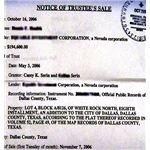 Notice of Trustees Sale