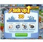 The Sims Social writing skill up