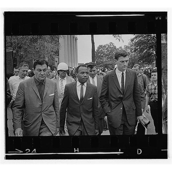 James Meredith integrating the University of Mississippi