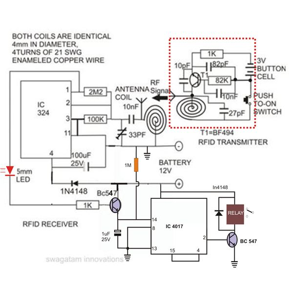 switching relay wiring diagram with 63982 Make Yourself This Low Cost Rfid Access Control Circuit At Home on 21565 likewise General Guide On How To Wire Relay Harness W Onoff Switch Pertaining To Led Light Bar Wiring Harness Diagram likewise Qq5897 likewise Further information further I  Ic 7700 Qst Review.