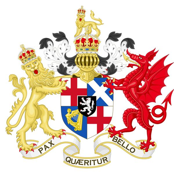 Coat of Arms of the Commonwealth of England from 1653 to 1659 during the Protectorate of Oliver Cromwell