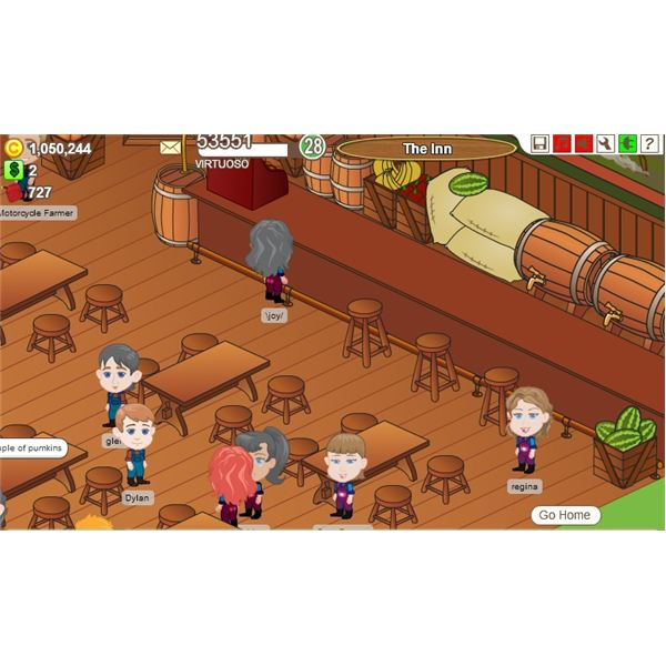 Farm Town Inn Game Screenshot - farming games