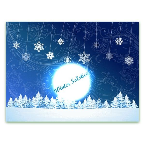 image relating to Hewlett Packard Printable Cards identify Totally free, Printable Wintertime Solstice Playing cards