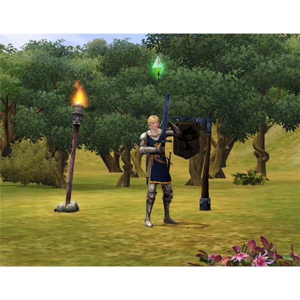 The Sims Medieval hunting in the forest