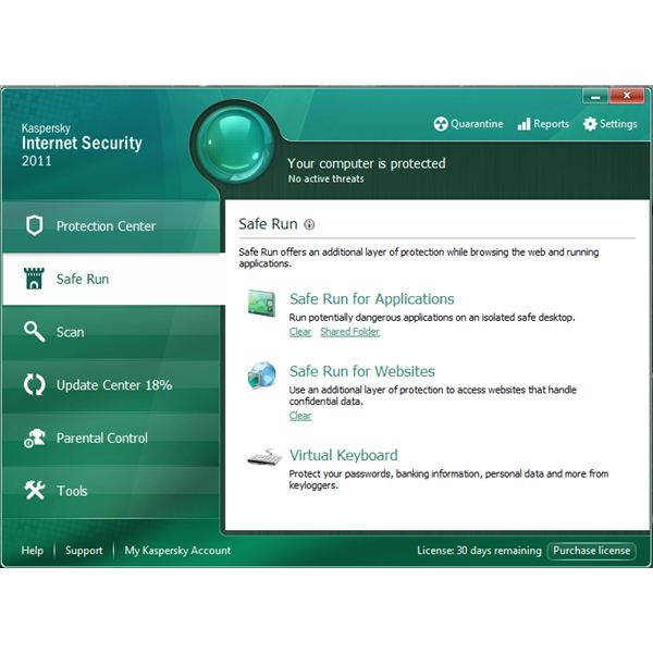 Kaspersky Safe Run