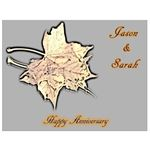 Wine Label for Anniversary Couple
