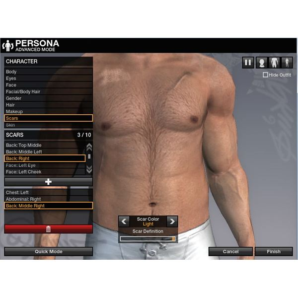 Body options for APB
