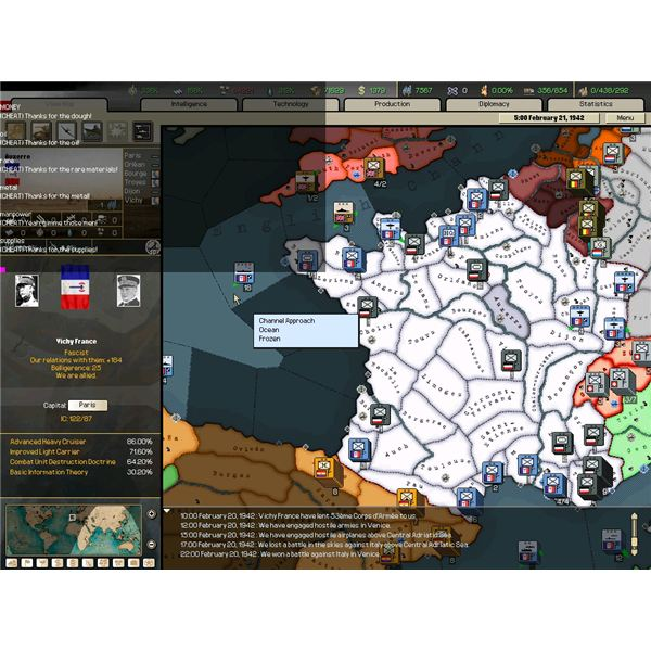 Hearts of Iron 2 Cheat Codes - Including the Alien Invasion