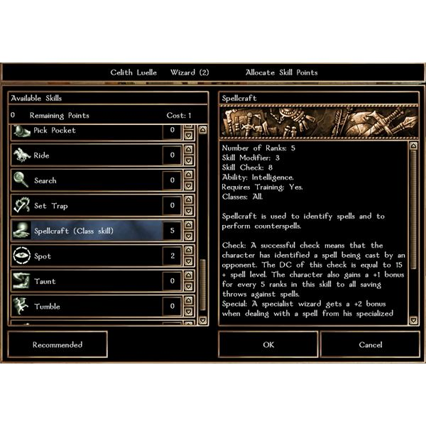 Neverwinter Nights: Skill-Points