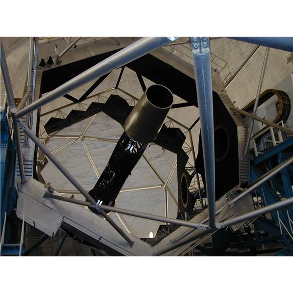 The Keck mirror--note the segments