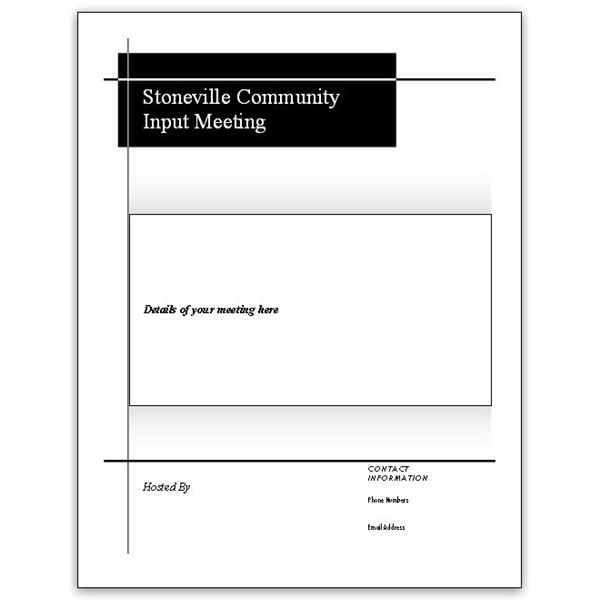 Microsoft Publisher Flyer Templates For Community Meetings
