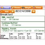 Diet and Calorie Tracker - Free From SparkPeople (BlackBerry diet journal)