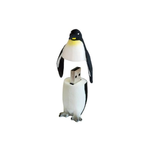 AMP 8gb rubber penguin USB drive with bootable Linux installed