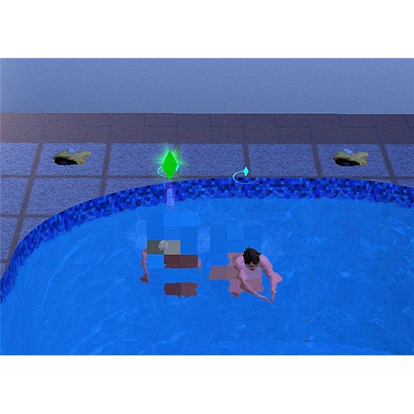 The Sims 3 Skinny Dipping in Pool