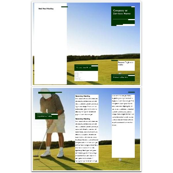 Golfer and Course Background Brochure