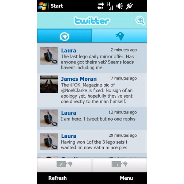 The superb Twitter X-Panel for Sony Ericsson Xperia phones