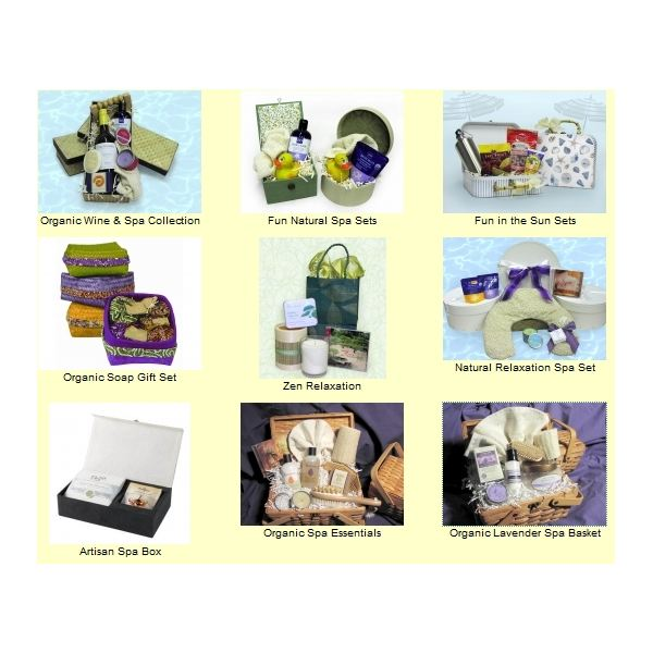 Spa Gift Baskets - face cloths at Ecoexpress.com