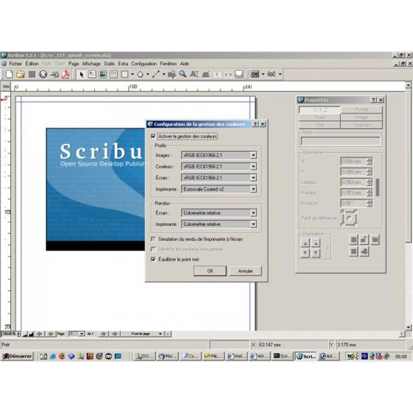 Color management in Scribus