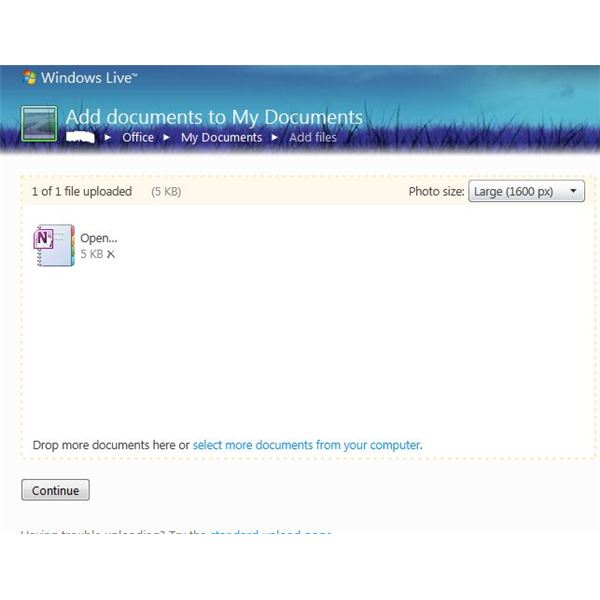 Share OneNote Files Via SkyDrive