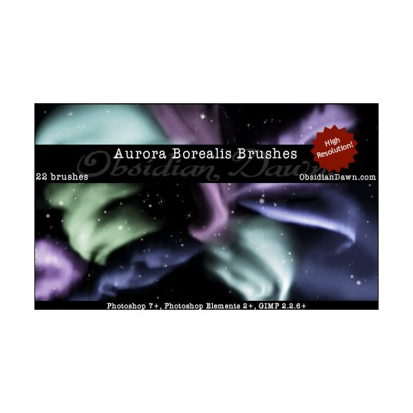 Aurora Borealis Brushes by redheadstock