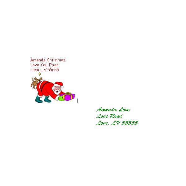 Santa Clause and Puppy Dog Christmas Postcards Matching Envelopes - final