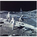Future lunar base? Artistic rendering, NASA.