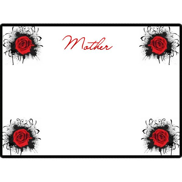 Black & Red Rose Border