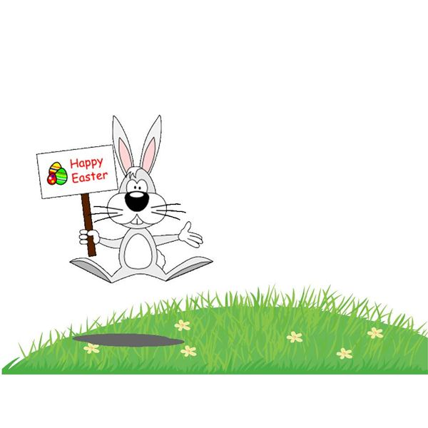 Easter Bunny Grass Template