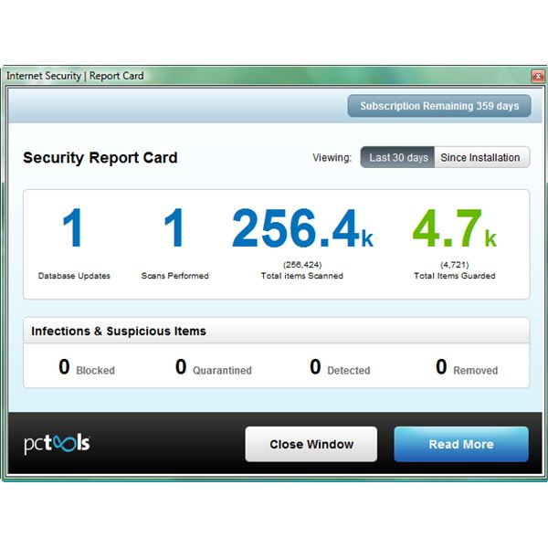New Security Report Card in PC Tools Internet Security 2011