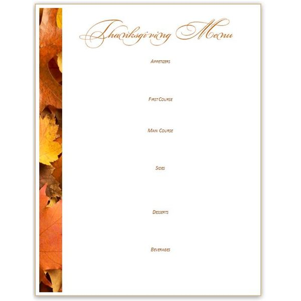 photo about Printable Thanksgiving Menu identify 5 Thanksgiving or Harvest-Themed Printables: Greeting Card
