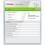 Screenshot McAfee Total Protection Home Screen