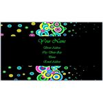 Business Card With Bright Geometric Circles