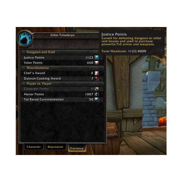 What are Justice Points in WoW?