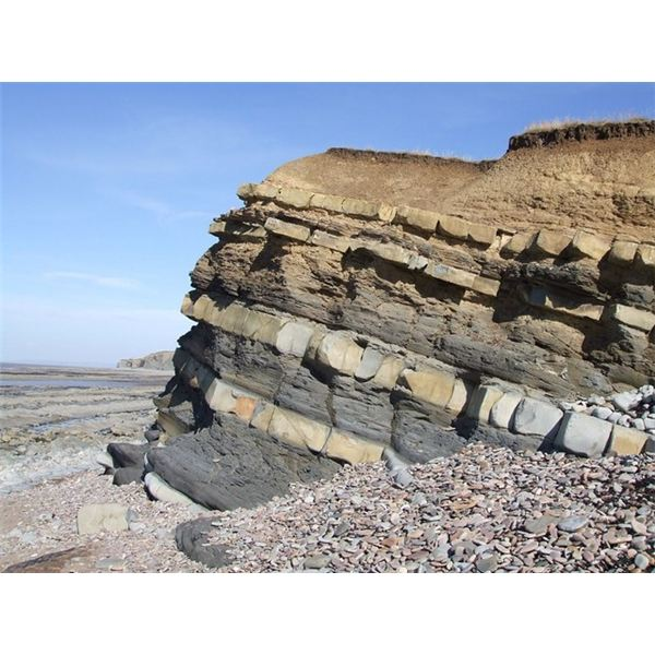 Kilve Beach Rock Formation - geograph org uk - 229528