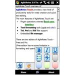 AgileNotes Touch is an alternative to Windows Mobile Word