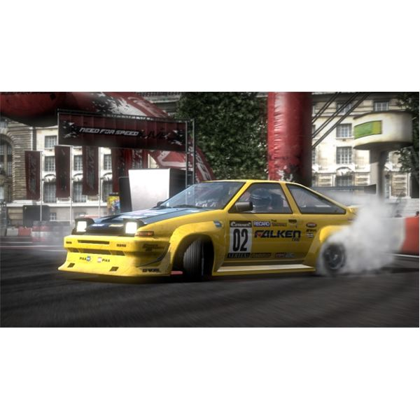 With practice you'll be drifting with the Need for Speed: Shift pros