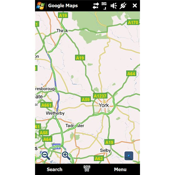 Google Maps Mobile GPS software Windows Mobile