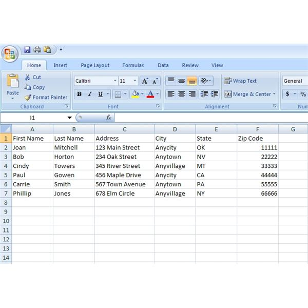 Excel 2007 Mail Merge