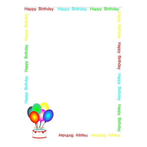 Balloons & Greetings Birthday Border