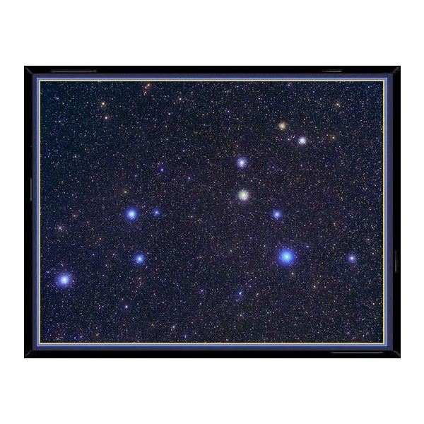 This photo of the constellation Leo shows, enlarged in their true color, the main