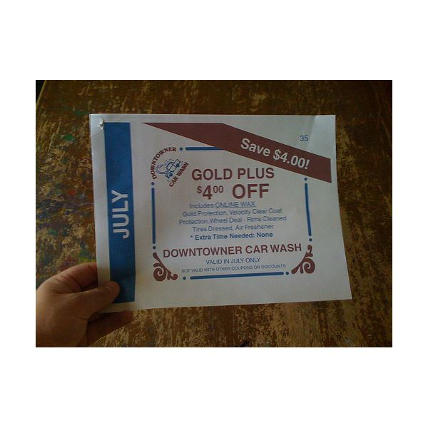 Coupons are a great way to make your business card last.