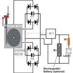 Hand Cranked Flashlight Circuit Diagram, Image