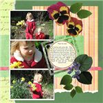 Cute Scrapbook Layout